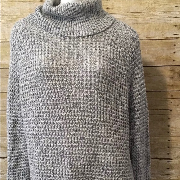 45db3daaae87 Free People Sweaters - Free People Wool Linen Oversize Turtleneck Sweater